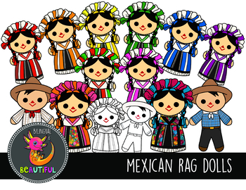 Mexican Rag Dolls Clip Art Bilingual is Beautiful