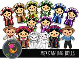 Mexican Rag Dolls Clip Art Bilingual is Beautiful