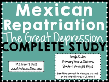 Mexican Repatriation During the Great Depression