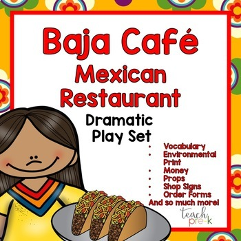 Mexican Restaurant/Taco Stand Dramatic Play