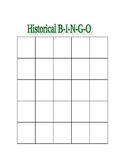 Mexican Revolution Bingo Board, Organizer, and Key