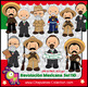 Mexican Revolution Day Clipart Bundle Color and Black/White Set 110-111