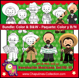 Mexican Revolution Day Clipart Bundle Color and Black/Whit