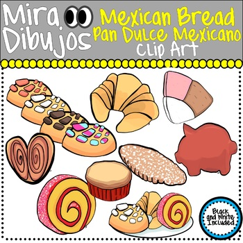 Mexican Sweet Bread Pan Dulce Mexicano Clip Art by Mira Dibujos Clip Art df02b4e0ae7