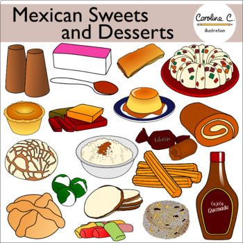 Mexican Sweets and Desserts Clip Art