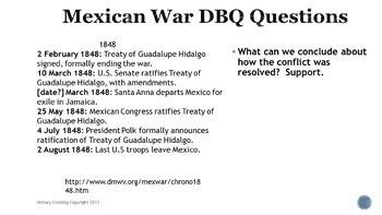 Mexican War DBQ Bell Ringers