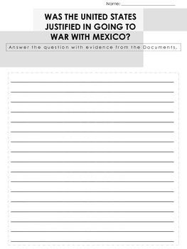 Mexican War Short Writing Assignment