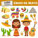 Mexican clip art Cinco de Mayo Fiesta clipart Sombrero Taco