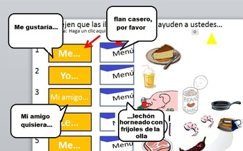 Mexican restaurant product combo:  Listening + reading exercises for lower price