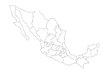 Mexican states map activity