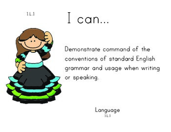 Mexico 1st grade English Common core standards posters