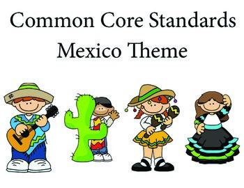 Mexico 1st grade English Common core standards posters