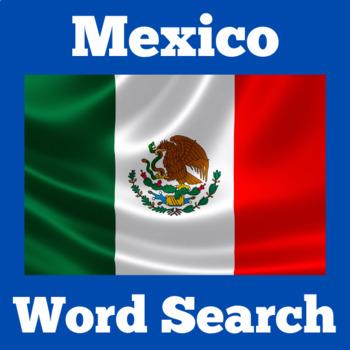 Mexico Activity | Mexico Symbols | Mexico Word Search | Mexican