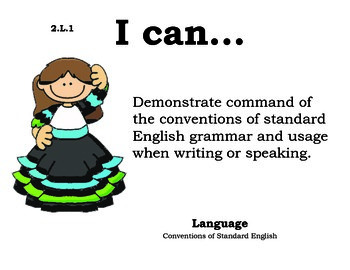 Mexico 2nd grade English Common core standards posters