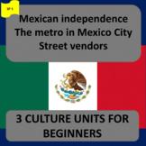 México: Independence (1), The metro (2), Street vendors (3) -SP Begin. 1