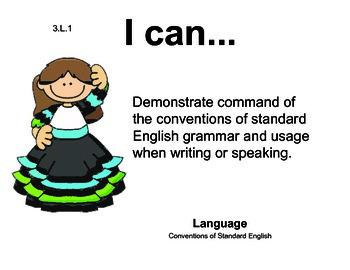 Mexico 3rd grade English Common core standards posters