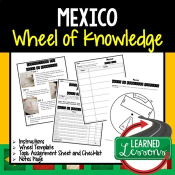 Mexico Activity, Wheel of Knowledge (Interactive Notebook)