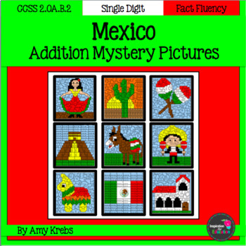 Mexico Addition Mystery Pictures (Cinco de Mayo)