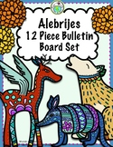 Mexico Alebrije & Marigolds 12 Piece Bulletin Board Set