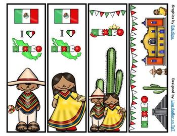 Mexico Bookmarks -  4 Designs