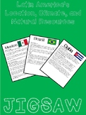 Mexico, Brazil, & Cuba: Location, Climate, and Natural Resources JIGSAW Activity
