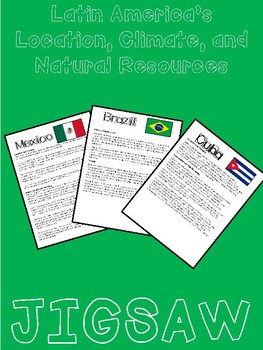 mexico brazil cuba location climate and natural resources jigsaw activity