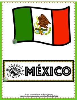 Mexico Bulletin Board Set of 12 Aztec Inspired