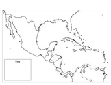 Mexico, Central America, & the Caribbean Outline Map