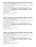 Mexico, Central America, & the Caribbean landforms flip chart directions