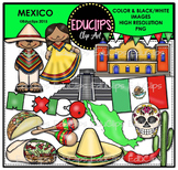 Mexico Clip Art Bundle {Educlips Clipart}