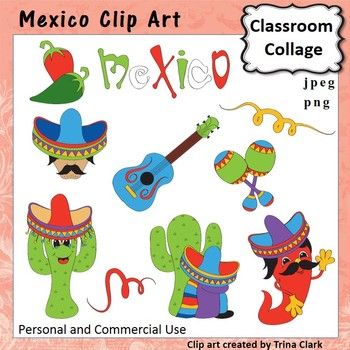 Mexico Clip Art - Color - personal & commercial use T Clark