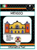 Mexico  Close Reading 2nd and 3rd Grades