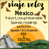 Mexico Comprehensible Spanish Reading about MEXICO Viaje Veloz
