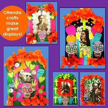 MEXICO! Day of the Dead -  Includes 3 - 6 Lesson & Ofrenda Craft w/ Printables