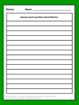 Mexico A True Book Task Cards