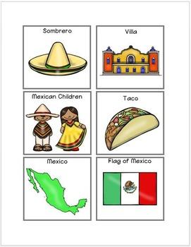 Mexico File Folder Matching