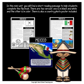 Mexico Country Study: A Mini-Unit With Mexico Flip Book