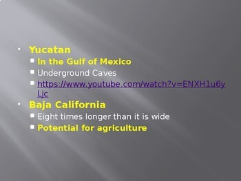 Mexico Geography Powerpoint