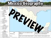 Mexico Geography Worksheet