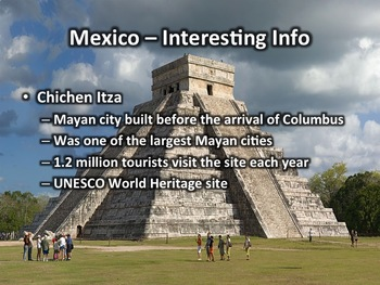 mexico geography and history powerpoint presentation tpt