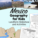 Mexico Geography for Kids ~ Landform Slideshow and Activities in English