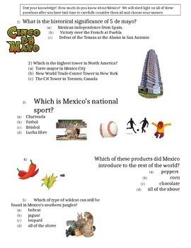 Mexico Group Trivia Activity - Fun Facts