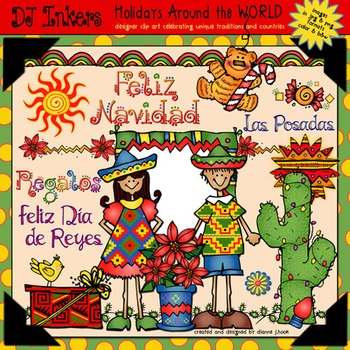 Mexico: Holidays Around the World Clip Art