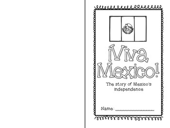Mexico Independence Day Mini Book and Activities BILINGUAL VERSION