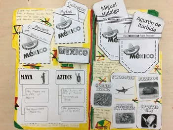 Mexico Interactive Notebook and Lapbook Activities {English & Spanish Versions}