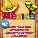 Mexico Lesson Plans and Interactive Notebook Mega Bundle with Test Prep Passage