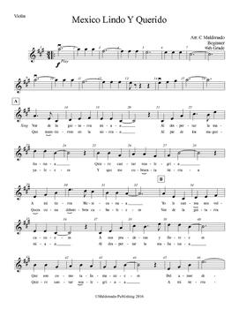 Mariachi: Mexico Lindo Y Querido - Beginner Violin