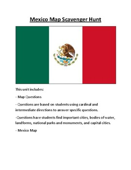 Mexico Map Scavenger Hunt