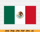 Mexico National Flag, Mexican Country Printable Banner - SVG EPS AI PNG JPG PDF