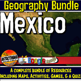 Mexico Physical Geography Bundle Lesson Plans, Map Activities & Quizzes Aztec
